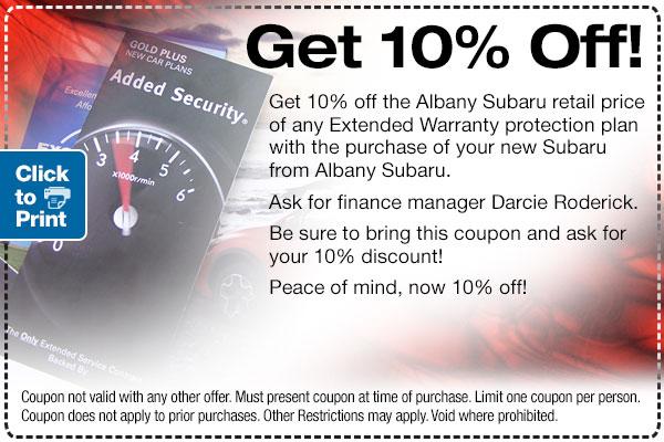 Subaru Extended Warranty Offer serving Berkeley & Albany, CA
