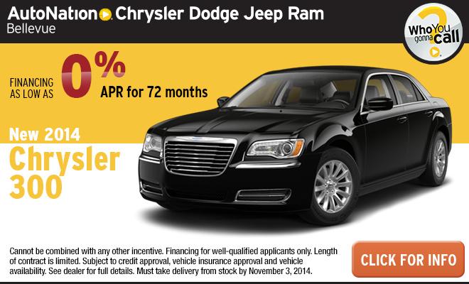 new vehicle specials autonation chrysler dodge jeep ram bellevue. Black Bedroom Furniture Sets. Home Design Ideas