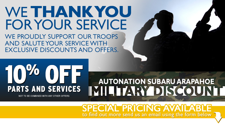 Subaru Military Savings Program serving Englewood, CO