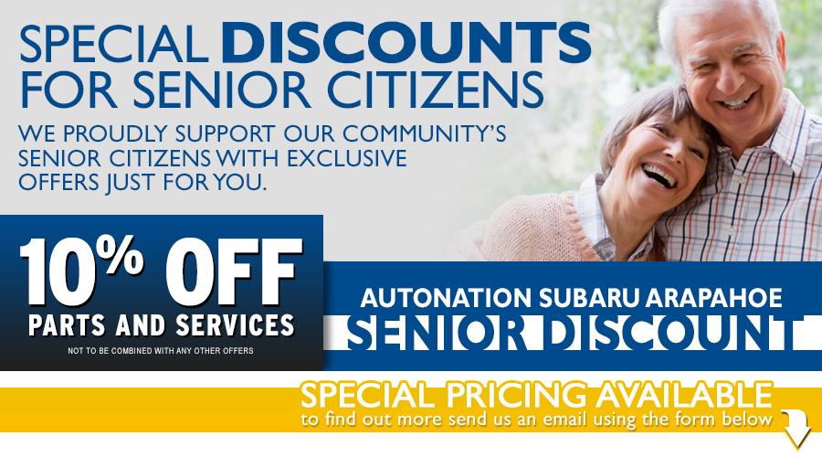 Subaru Senior Citizens Savings Program serving Englewood, CO