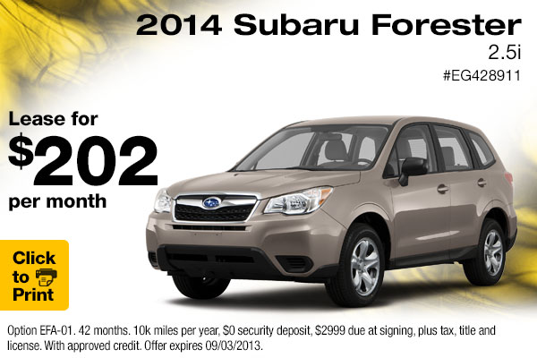 new 2015 subaru forester low payment lease specials englewood denver area discounts. Black Bedroom Furniture Sets. Home Design Ideas