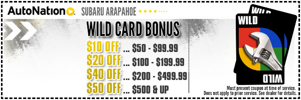 Wild Card Service Special from AutoNation Subaru Arapahoe in Englewood, Near Parker, Colorado