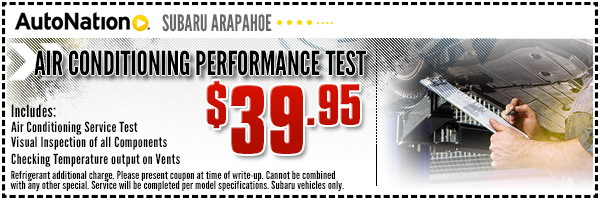 Air Conditioning Performance Service Special from AutoNation Subaru Arapahoe in Englewood, Near Parker, Colorado