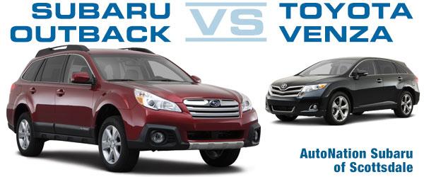 2014 Subaru Outback Vs 2014 Toyota Venza Vehicle