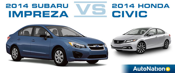 2014 Subaru Impreza vs 2014 Honda Civic Vehicle Comparison
