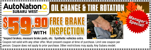 Oil Change Coupons Colorado Springs >> Subaru Service Specials, Coupons and Discounts for Denver & Golden, CO