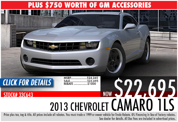 2013 Chevrolet Camaro Coupe 1LS Sale Special serving Atlanta, Georgia at Bellamy Strickland Chevy Buick GMC