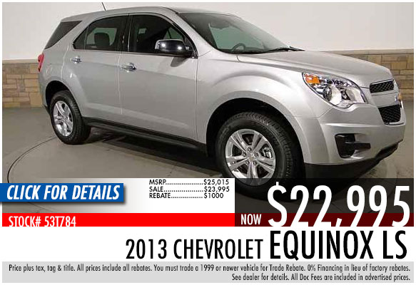 2013 Chevrolet Equinox Sale Special serving Atlanta, Georgia at Bellamy Strickland Chevy Buick GMC