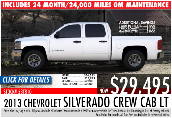 2013 Chevrolet Silverado Crew Cab LT Sale Special serving Atlanta, Georgia at Bellamy Strickland Chevy Buick GMC