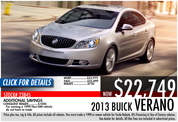 2013 Buick Verano 4 Door Sedan Sale Special serving Atlanta, Georgia at Bellamy Strickland Chevy Buick GMC