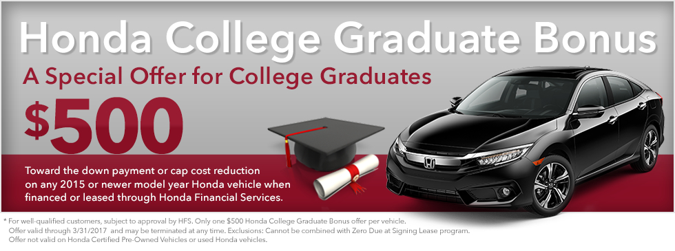 Honda college graduate bonus brandon ms for Brandon honda service hours