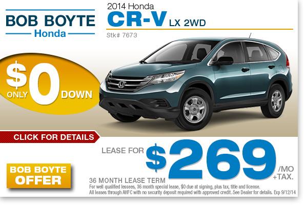 Bob boyte honda dealership brandon mississippi honda for Honda lease options