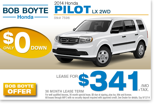 Honda pilot lease deals pa for How much to lease a honda pilot