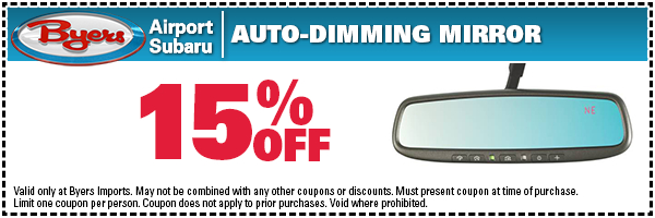 Subaru Auto Dimming Mirror Parts Special Serving Westerville, OH