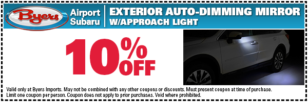 Subaru Exterior Auto Dimming Parts Special Serving New Albany, OH