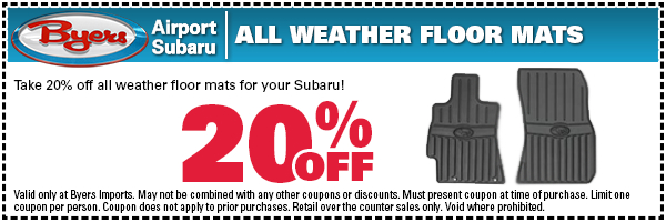 Subaru All-Weather Floor Mats Parts Special in Columbus, OH
