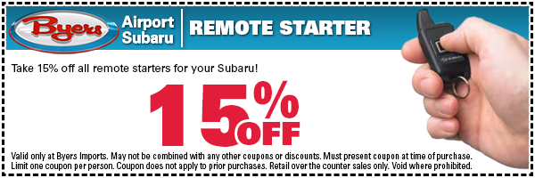 Subaru Remote Starter Parts Special Serving Westerville, OH