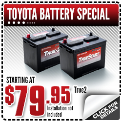Click to View Our Toyota Battery Service Special in Salem, OR