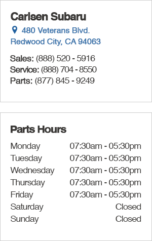 Carlsen Subaru Parts Department Hours, Contact Information, Location