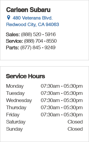 Carlsen Subaru's Service Department Hours, Location, Contact Information