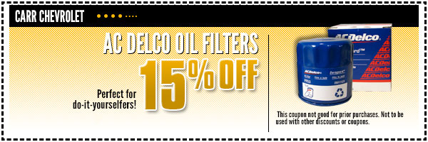 Chevrolet ACDelco Oil Filters Parts Special Portland, OR