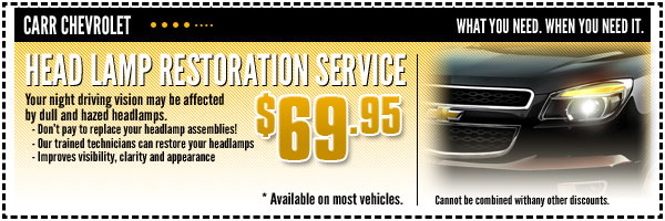 Chevrolet Headlamp Restoration Service Special Beaverton, OR