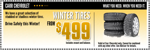 Chevrolet Winter Tires Service Special serving Forester Grove & Beaverton, OR