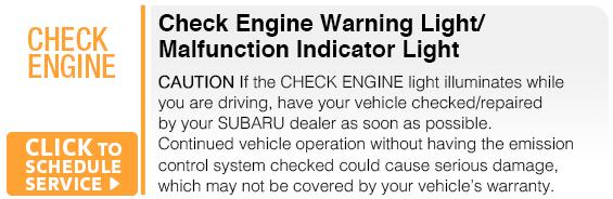 Subaru Check Engine Warning Light