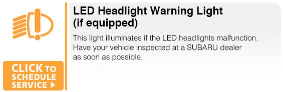 Subaru LED Headlight Warning