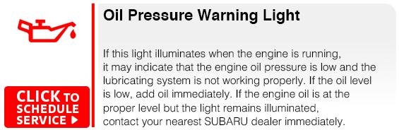 Subaru Oil Pressure Warning Light