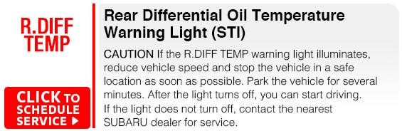 Subaru Rear Differential Oil Temperature