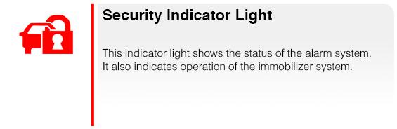 Subaru Security Indicator Light