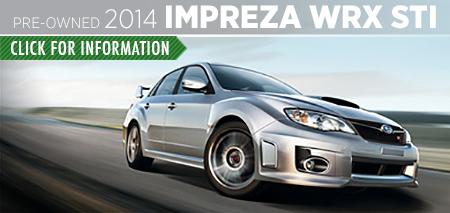 Learn more about the Certified Pre-Owned 2014 Subaru WRX STI available at Carter Subaru Ballard in Seattle, WA