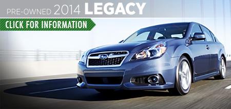 View details on the Certified Pre-Owned 2014 Subaru Legacy at Carter Subaru Ballard in Seattle, WA
