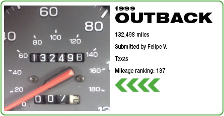 1999 Outback - 132,498 miles