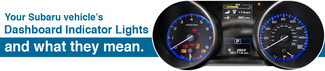 Subaru Dashboard Indicator Lights Information