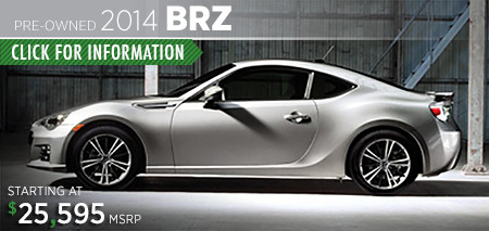 Subaru Certified Pre-Owned BRZ Models