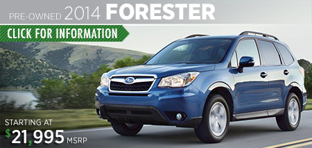 Subaru Certified Pre-Owned Forester Models