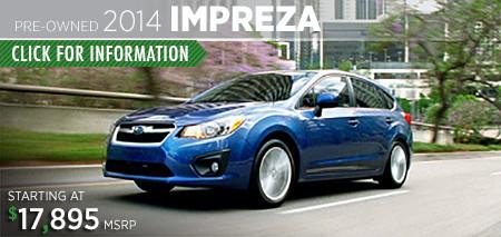 Subaru Certified Pre-Owned Impreza Models