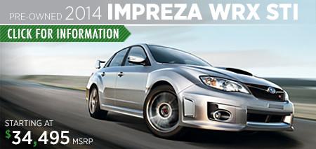 Subaru Certified Pre-Owned Impreza WRX STI Models
