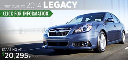 Subaru Certified Pre-Owned Legacy Models