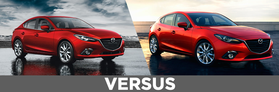 compare 2015 mazda 3 4 door sedan vs 5 door hatchback. Black Bedroom Furniture Sets. Home Design Ideas