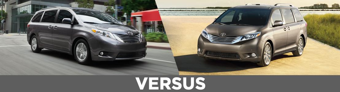 New 2015 Toyota Sienna Xle Vs Limited Model Comparison