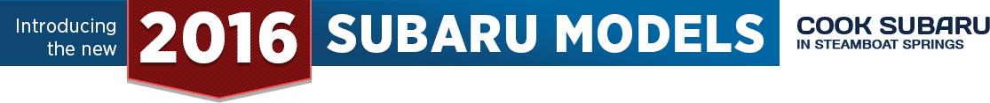2016 Subaru Model Information in Steamboat Springs, CO