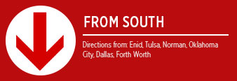 Get directions from the south to Eddy's Toyota