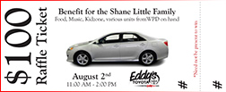 Purchase A Raffle Ticket for the Shane Little Family Benefit at Eddy's Toyota in Wichita