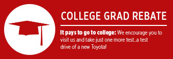 Eddy's Toyota College Grad Special Offers