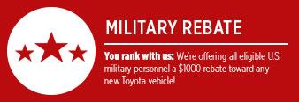 Military Appreciation Specials at Eddy's Toyota!