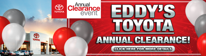 Eddy's Toyota Year End Clearance Sales Event