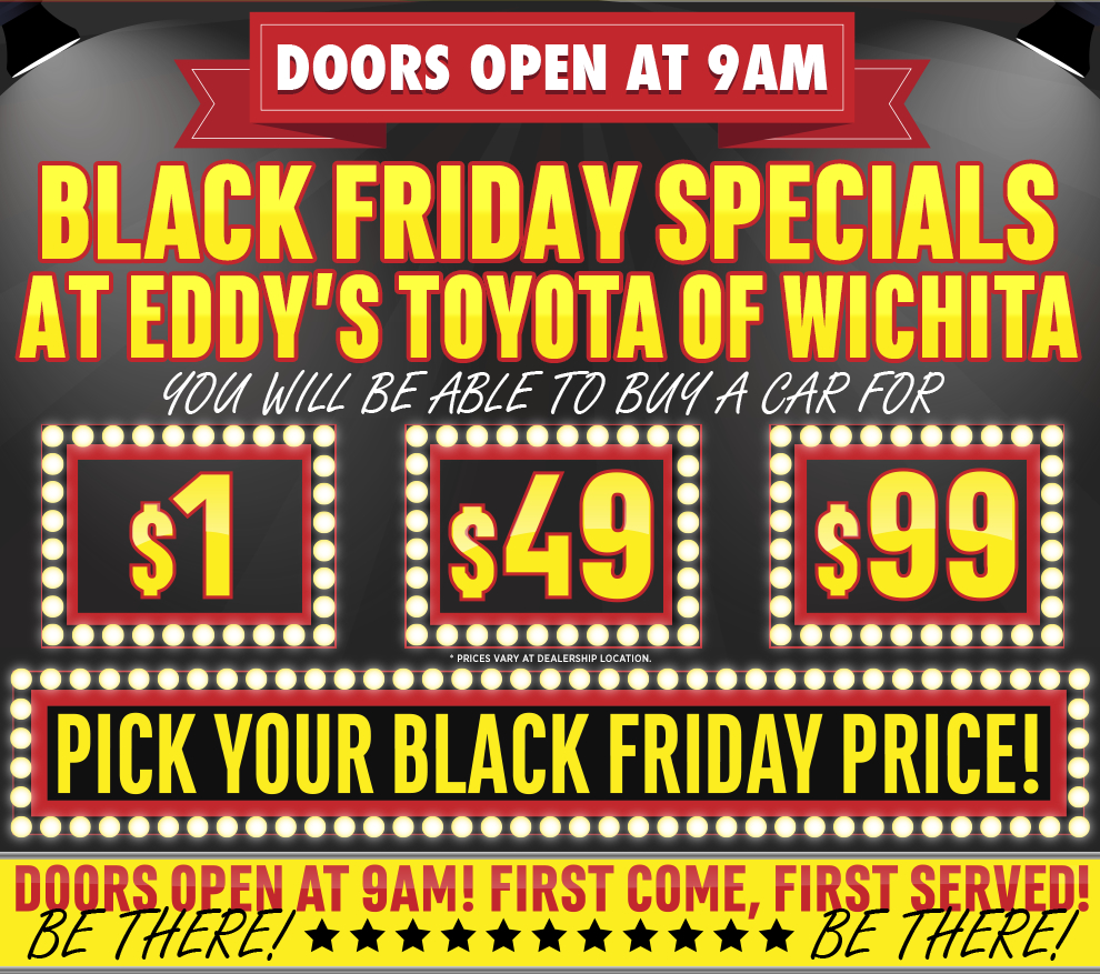 toyota black friday special 2015 savings sales event wichita car sales. Black Bedroom Furniture Sets. Home Design Ideas